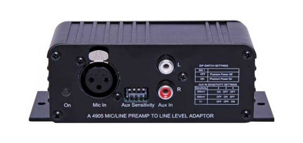 A4905 • Mic/Line Pre-Amplifier To Line Level Out Converter