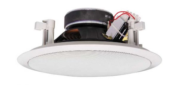 "C2128 • 200mm (8"") 15W 100V Coaxial 2 Way EWIS Fastfix Ceiling Speaker"
