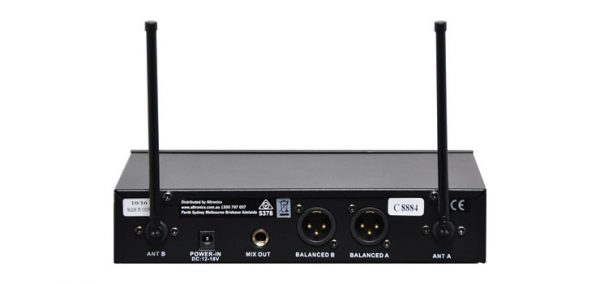 C8884 • UHF Wireless Microphone System 2 Ch With Two Handheld Mics