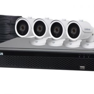 S9901J • 5MP AHD Real Time CCTV Hybrid DVR + 4 Camera Bullet Package