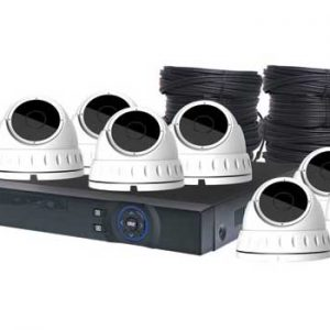S9905C • 4MP AHD Real Time CCTV Hybrid DVR + 8 Dome Camera Package